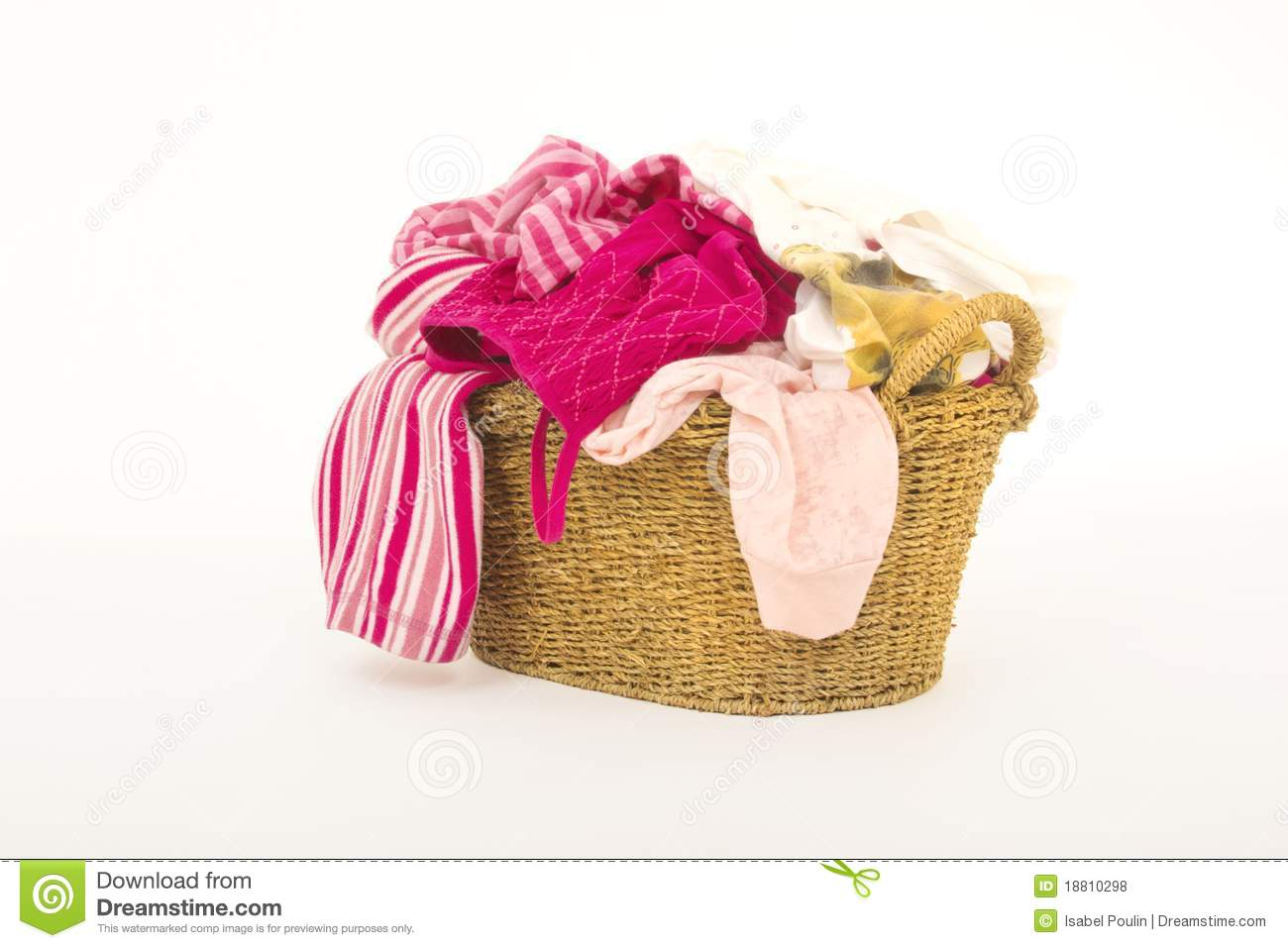 Clothes In Laundry Basket Royalty Free Stock Photos