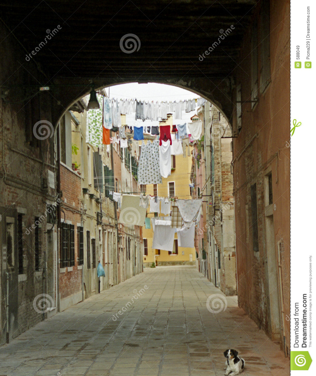 clothes lines over the road royalty free stock images image 588049