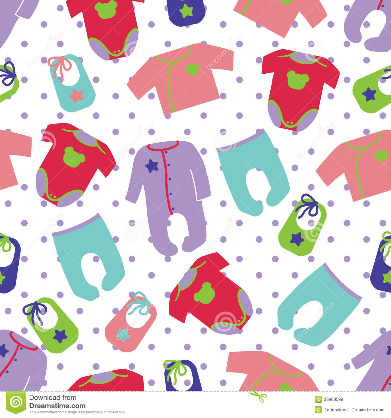 Clothes For Newborn Baby Seamless Pattern Stock Vector ...
