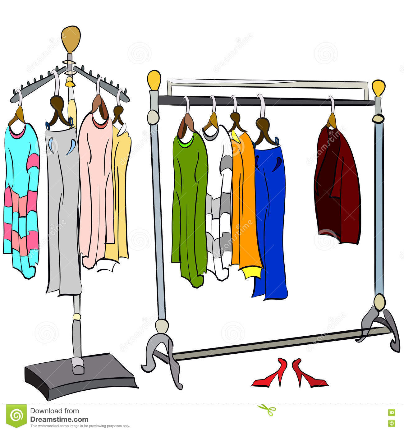 Clothes Rack Clipart | www.imgkid.com - The Image Kid Has It!