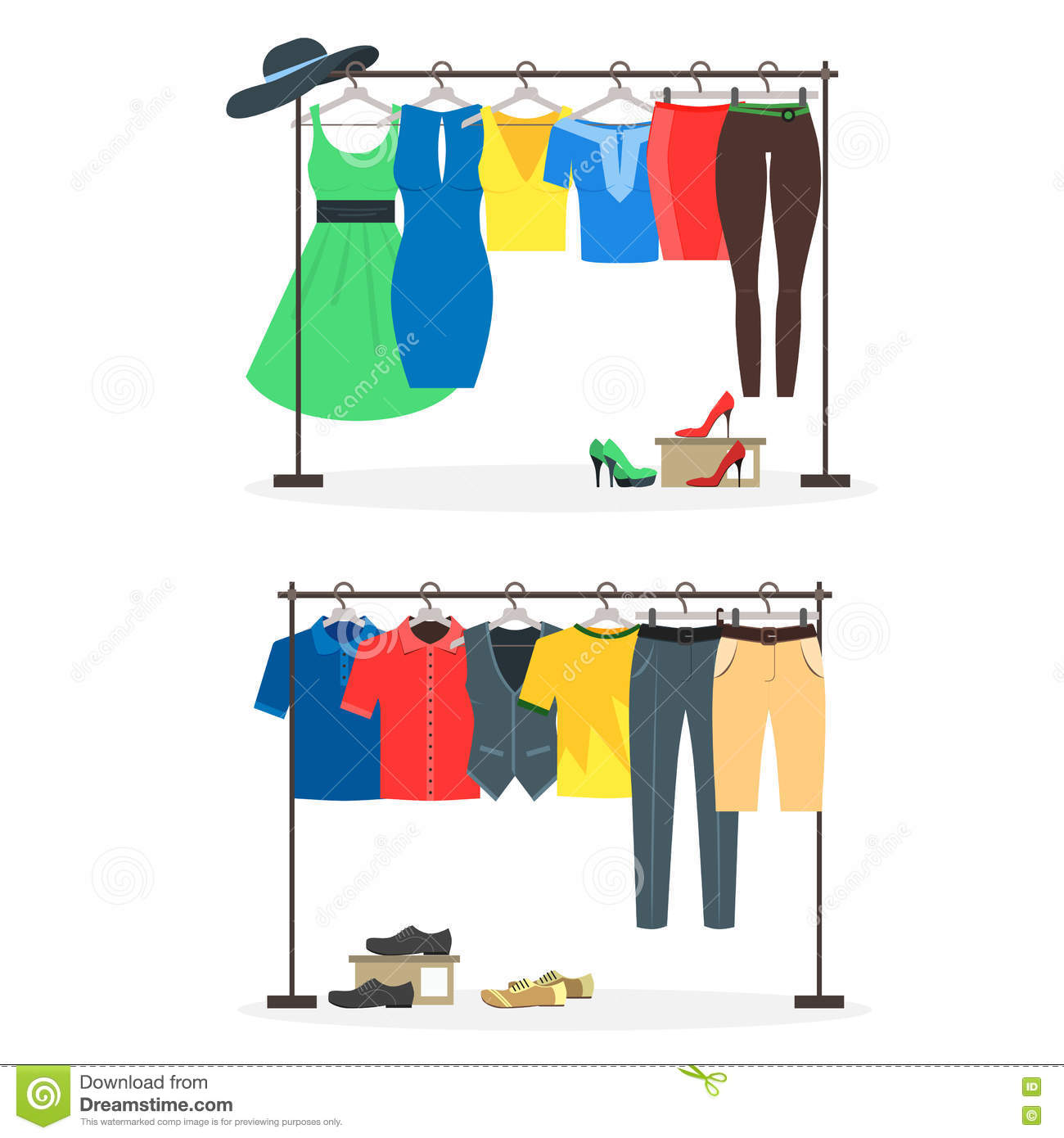 Clothing Rack Store Clip Art – Cliparts