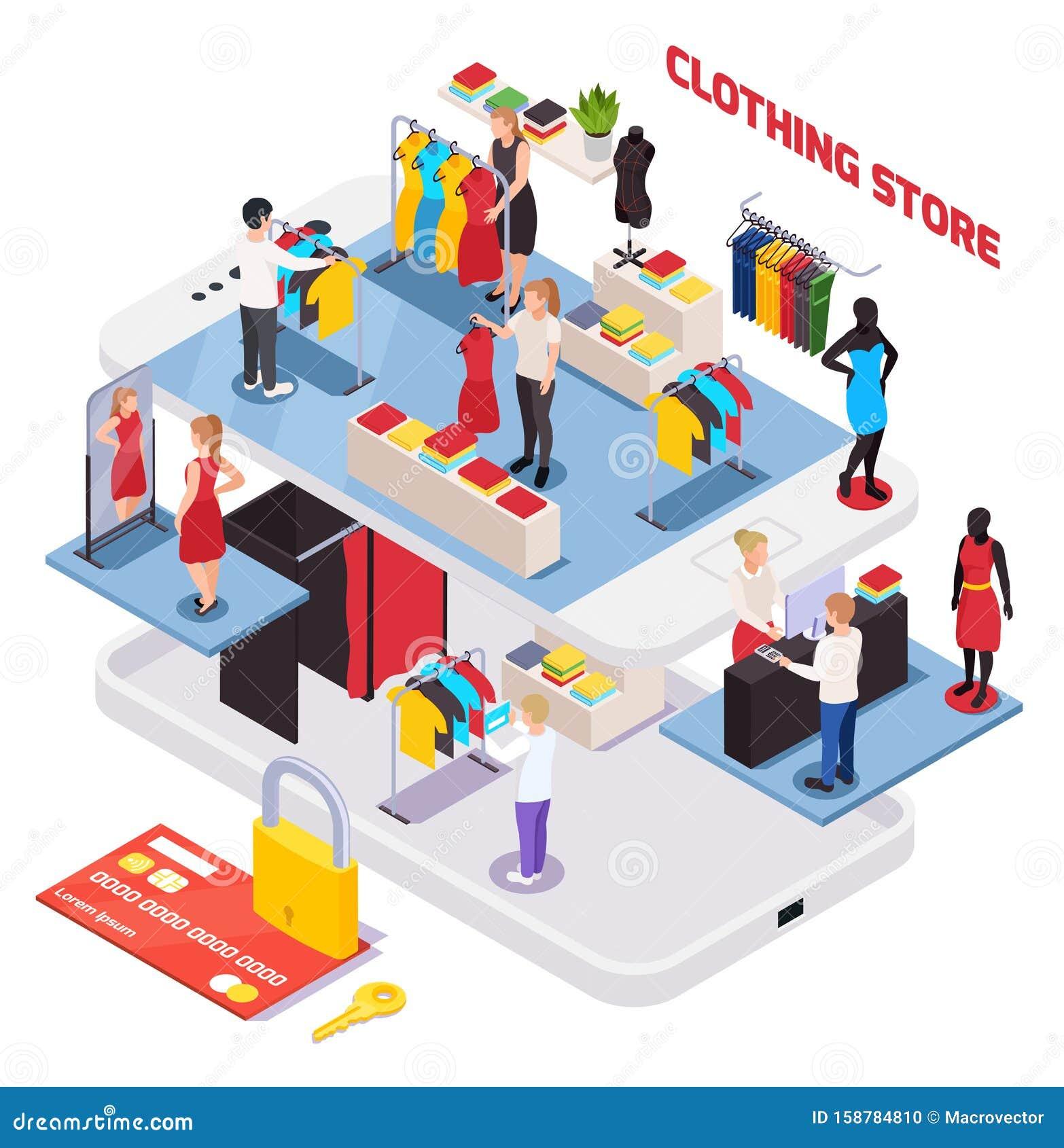 Clothes Shop Composition