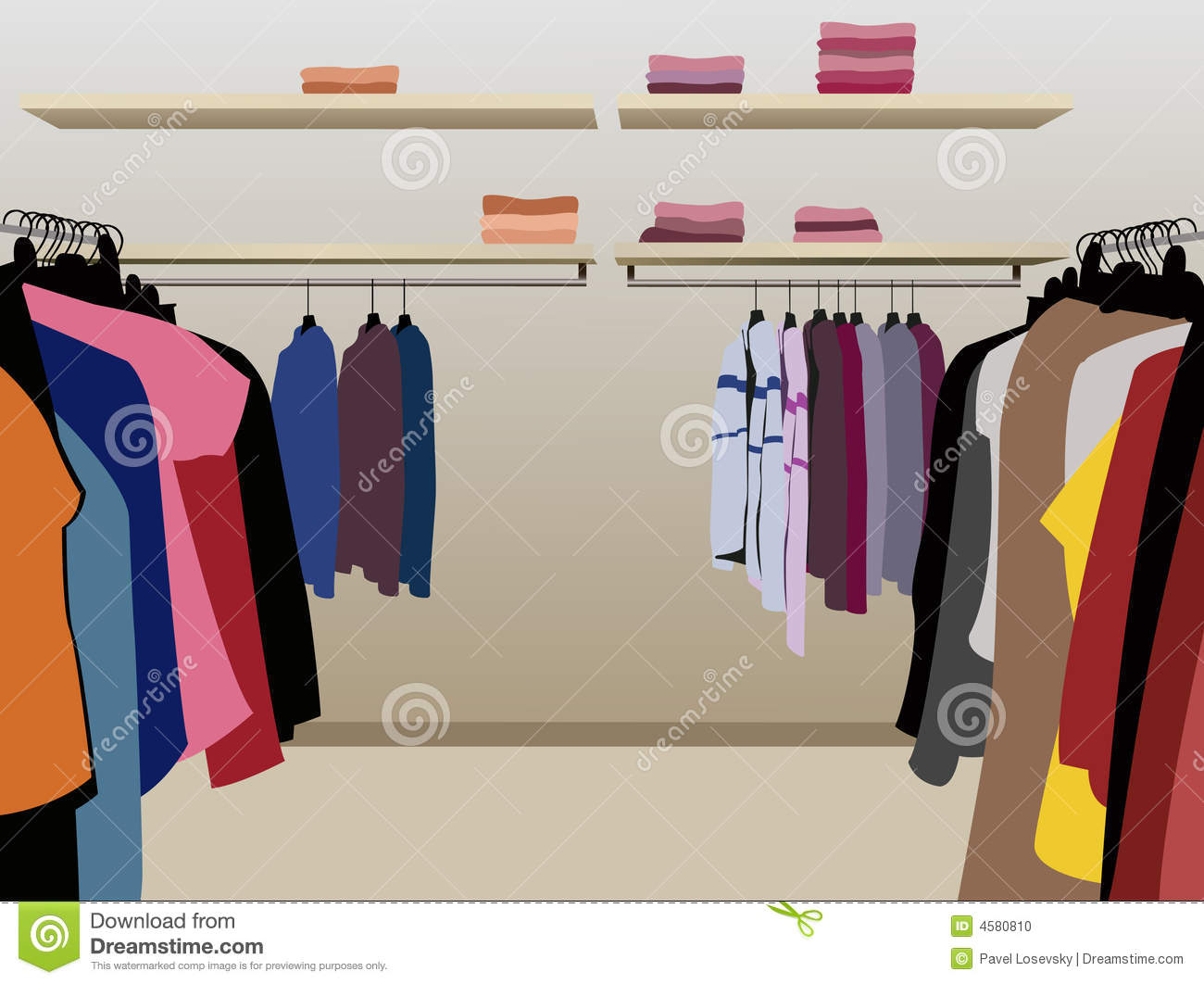 Clothes In Shop Vector Stock Photo Image 4580810