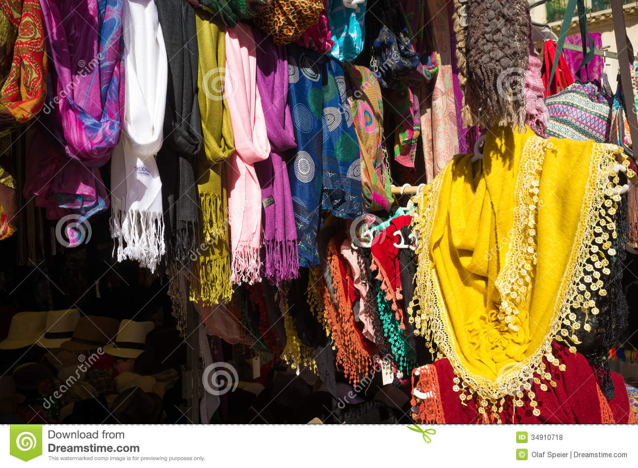 Clothes Stall Royalty Free Stock Photos