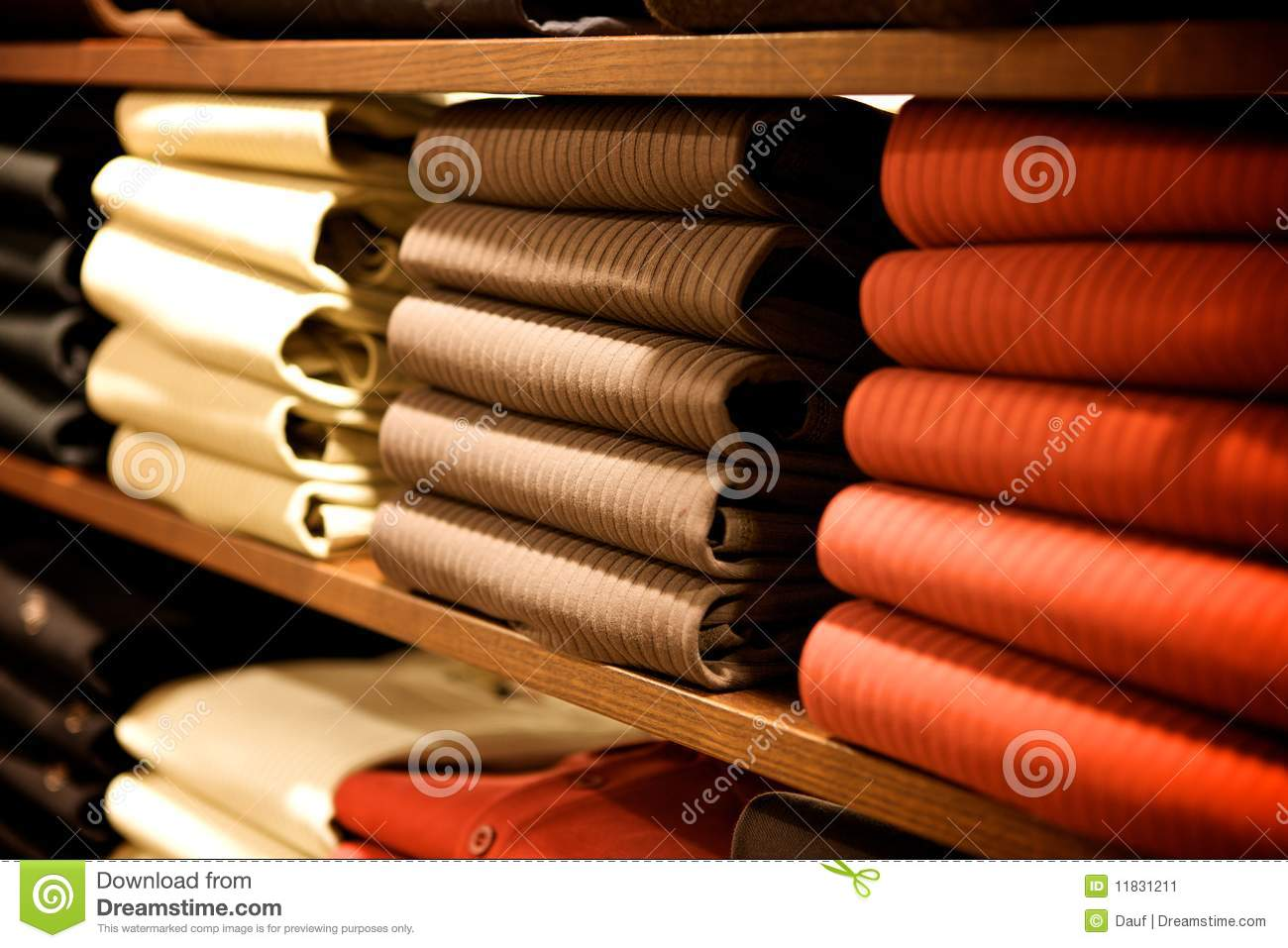 Stack in a clothes store in situation