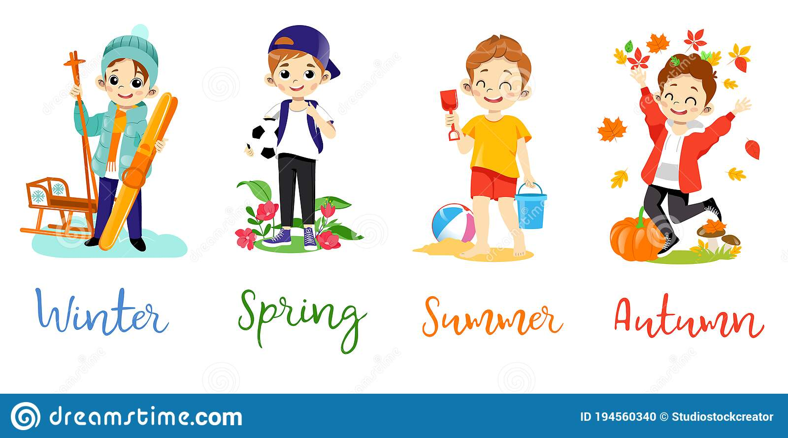 Clothes Seasons Stock Illustrations – 4,4 Clothes Seasons Stock
