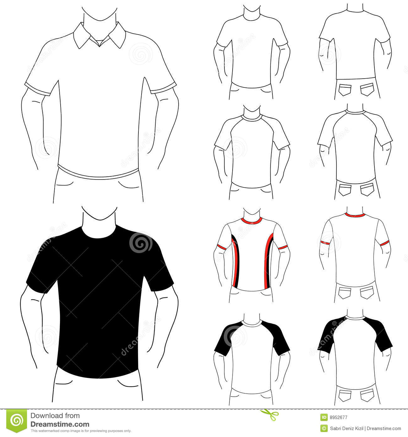 Clothes Template Fashion Man Royalty Free Stock