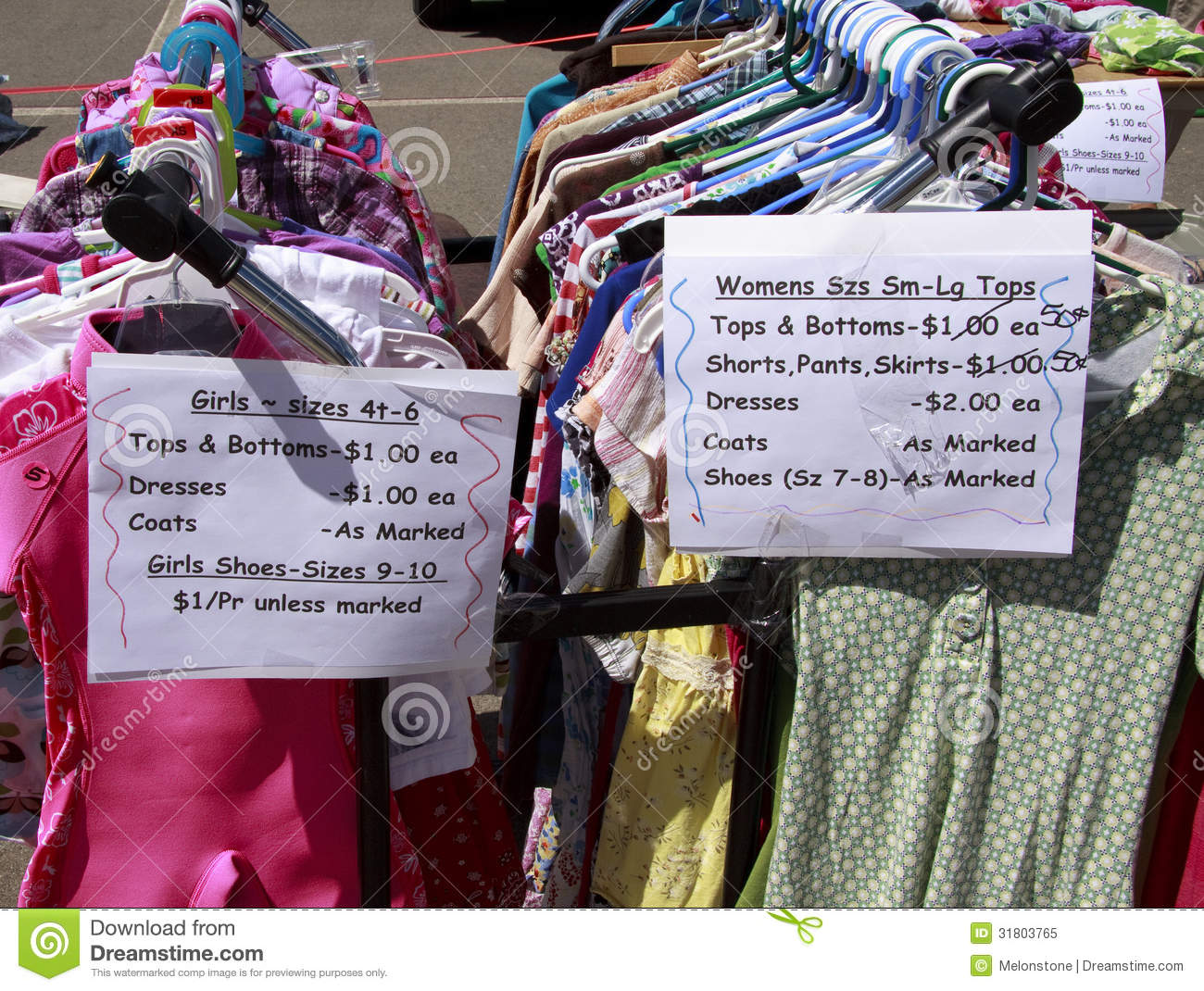 Clothes At Yard Sale
