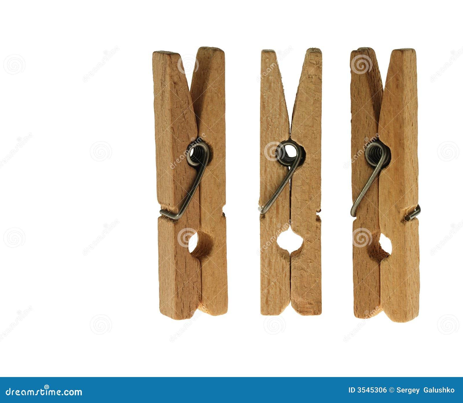 Clothespins linen