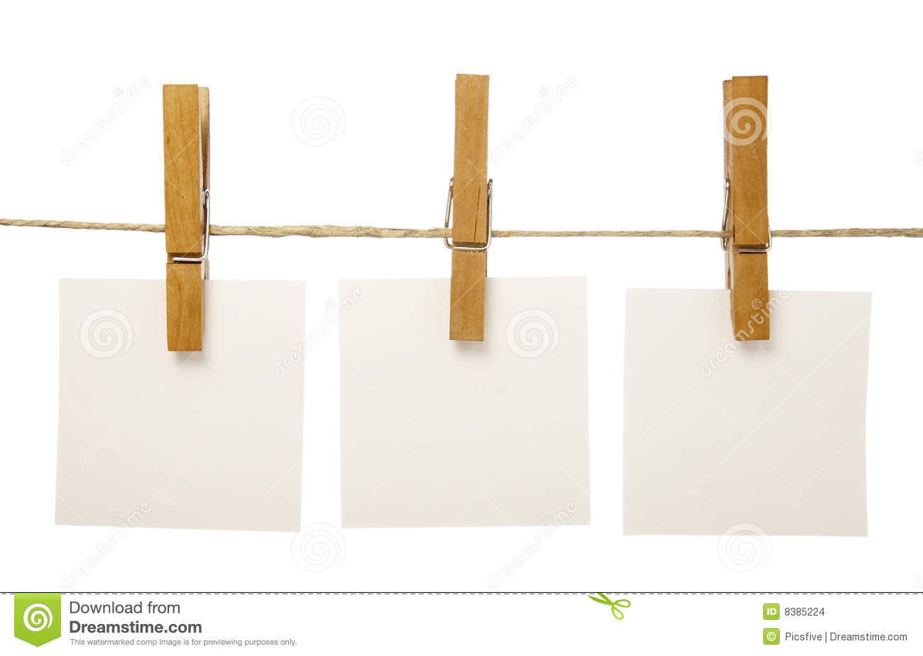 Clothespins And Notepads Stock Photo Image Of Clasp Hang