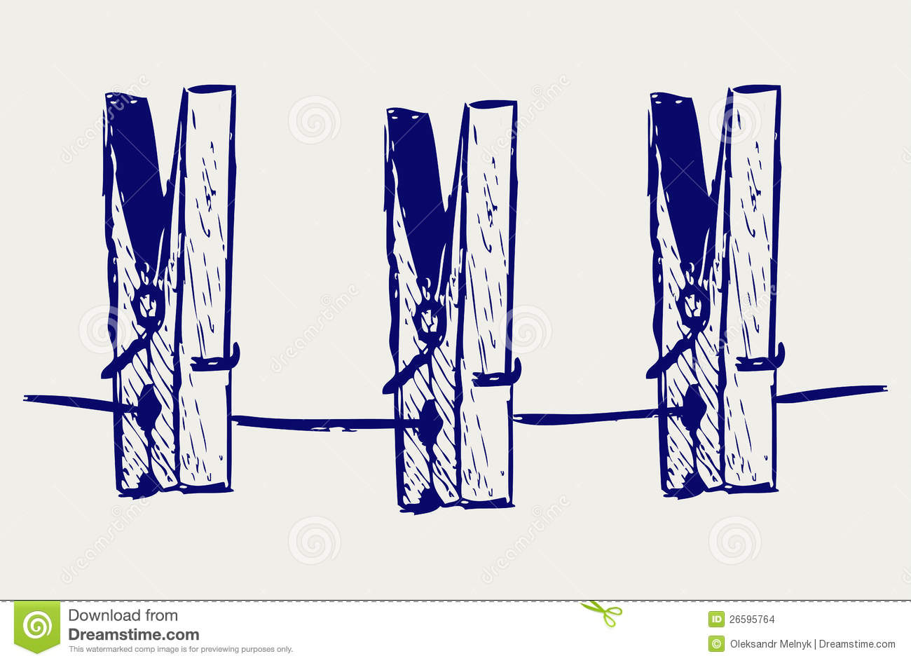 clothespins on rope stock vector image of clip message