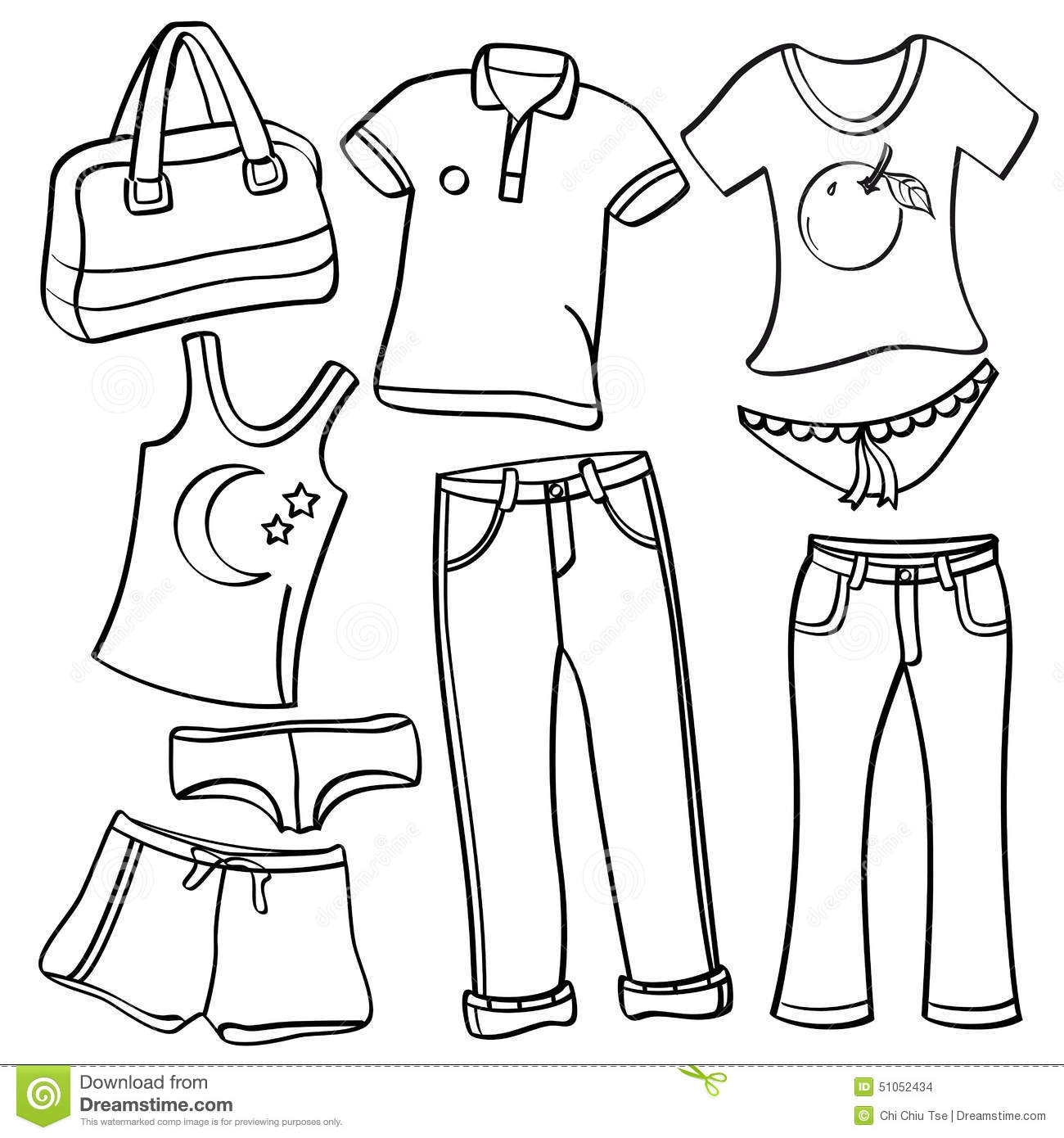 clothing and accessories stock illustration image 51052434