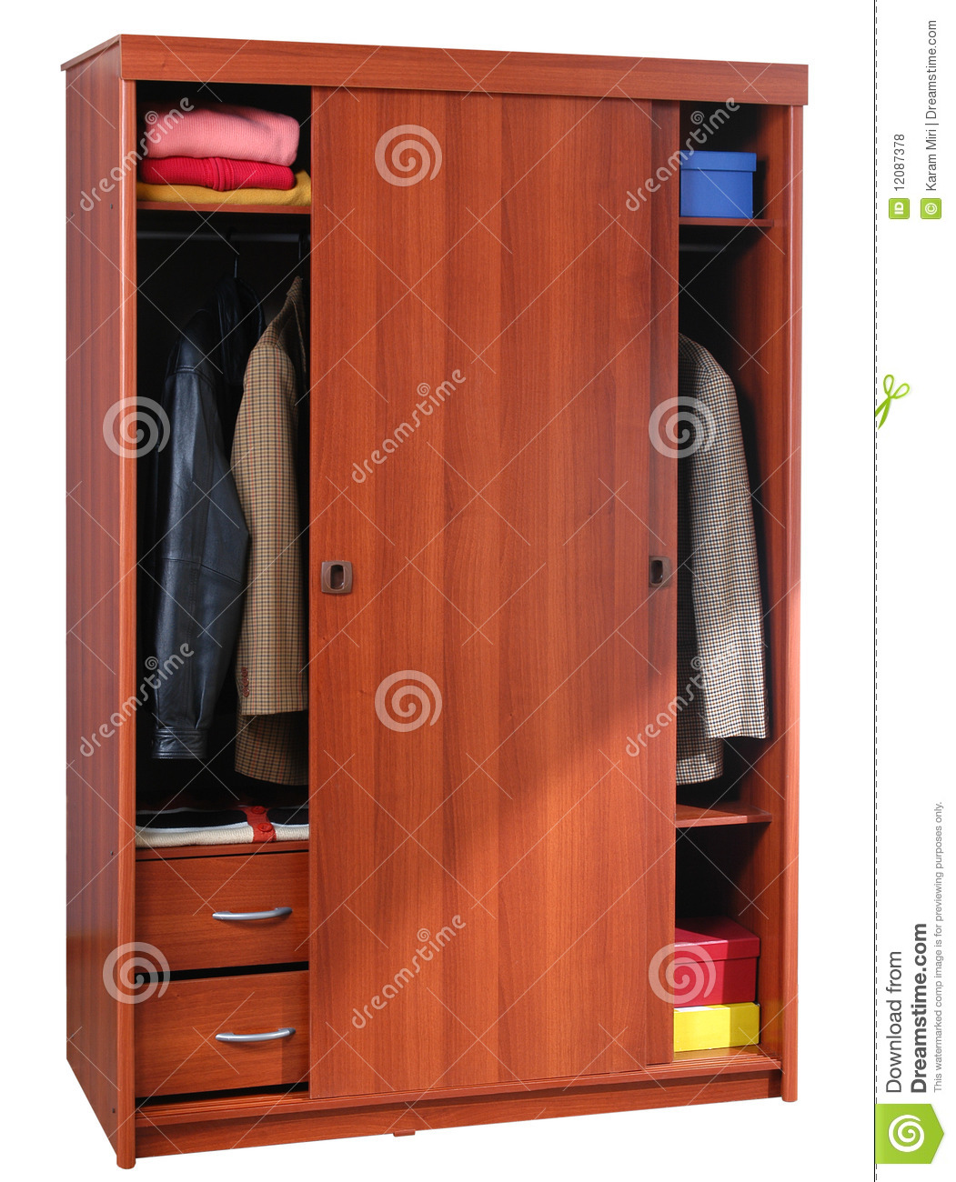 Clothing Cabinet Isolated Royalty Free Stock Photos