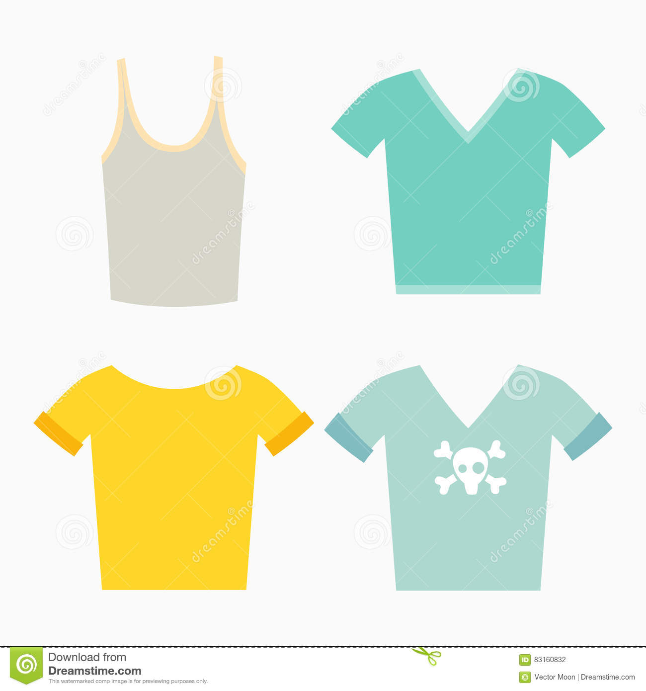 Clothing Design Concept Vector Illustration Stock Vector