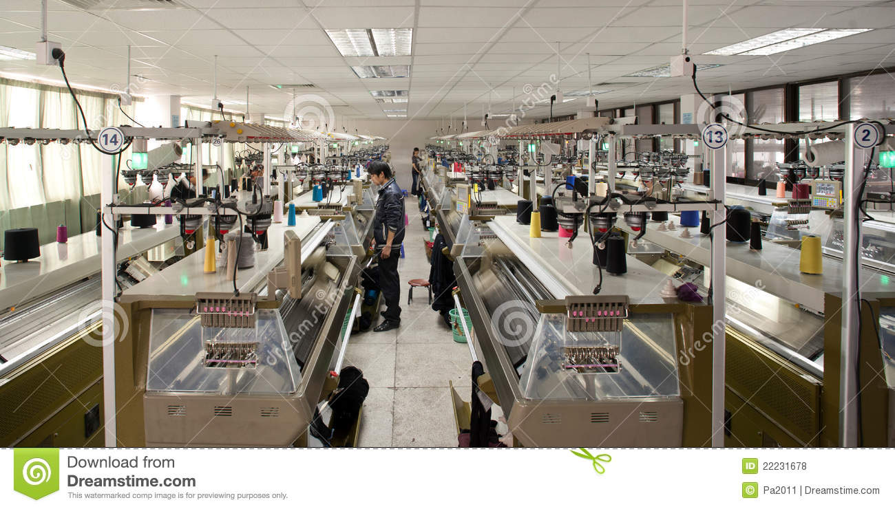 Clothing Factory Production Workshop Editorial Stock Photo - Image 22231678