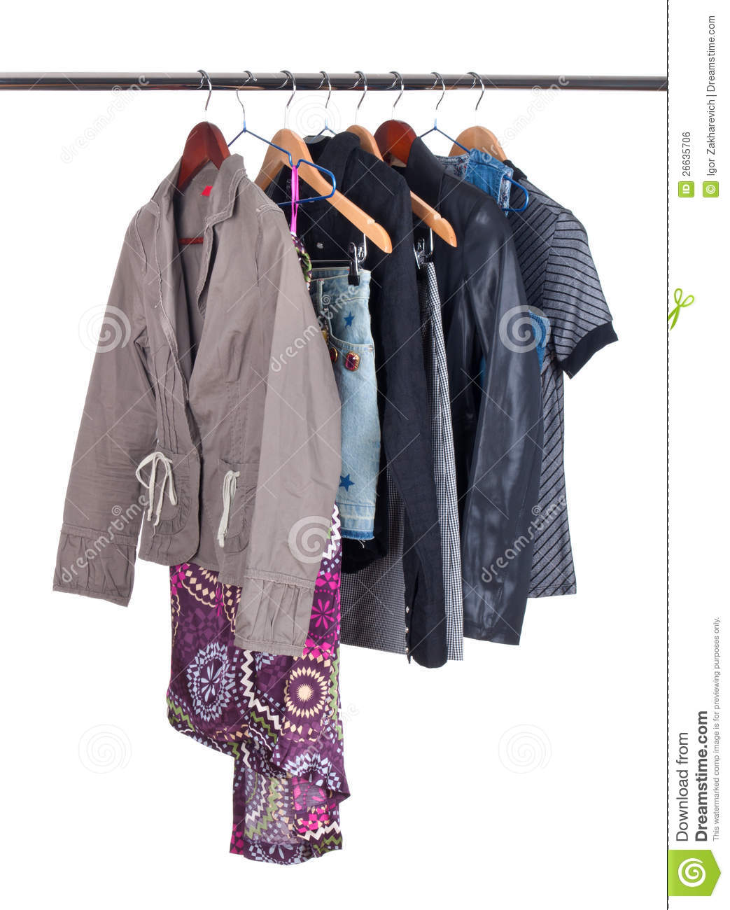 Clothing Hanging A On Display Royalty Free Stock Image - Image 26635706