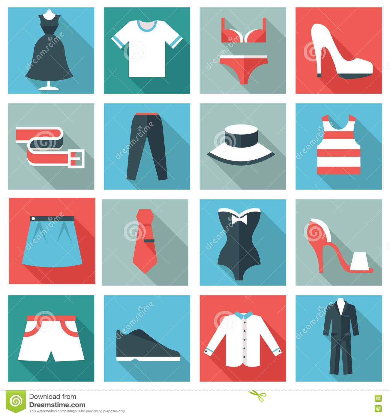 ad75ea5f22 Clothing icons stock vector. Illustration of briefs