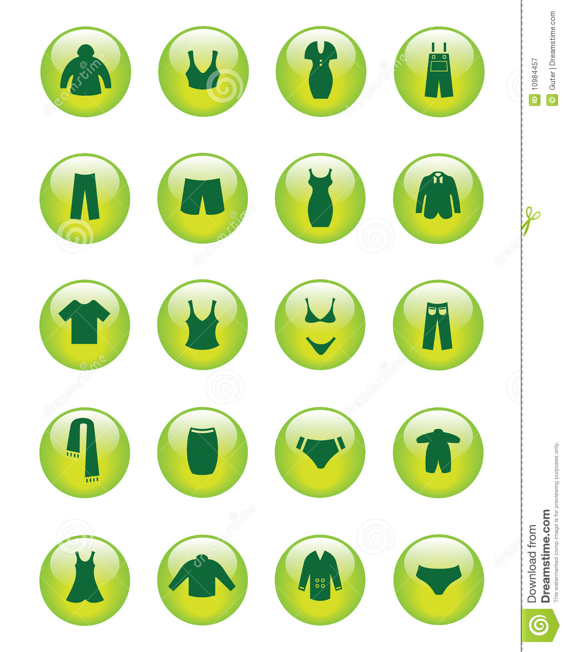 Clothing Icons Vector Royalty Free Stock Photography Image 10984457