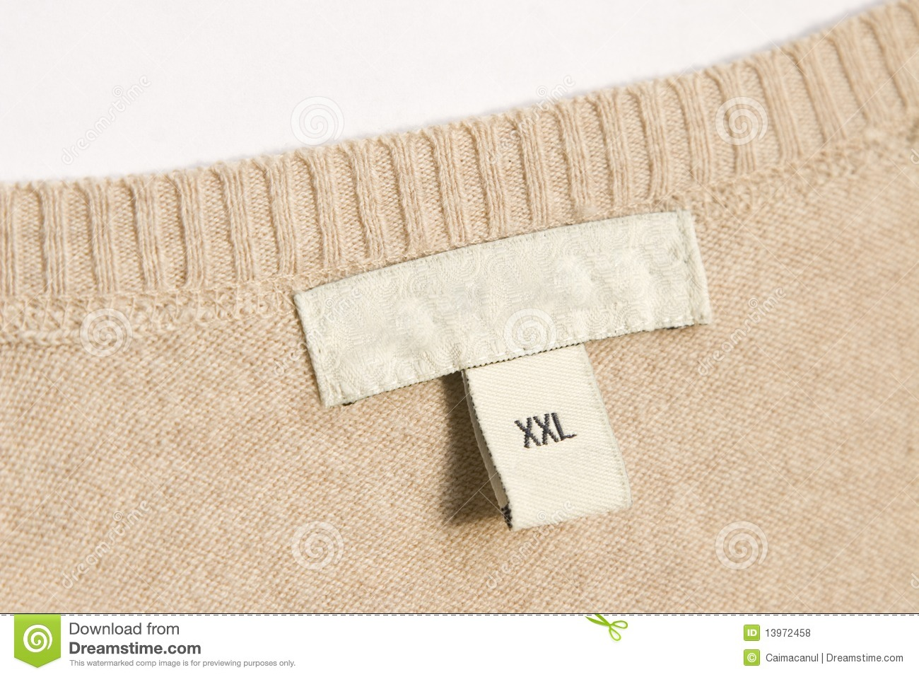 Clothing label stock photo image of message sale for Blank label clothing