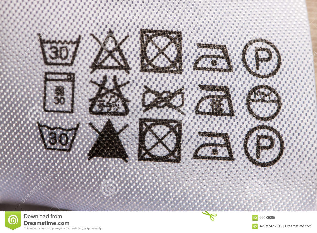 Clothing Label With Laundry Care Instructions Stock Image Image Of