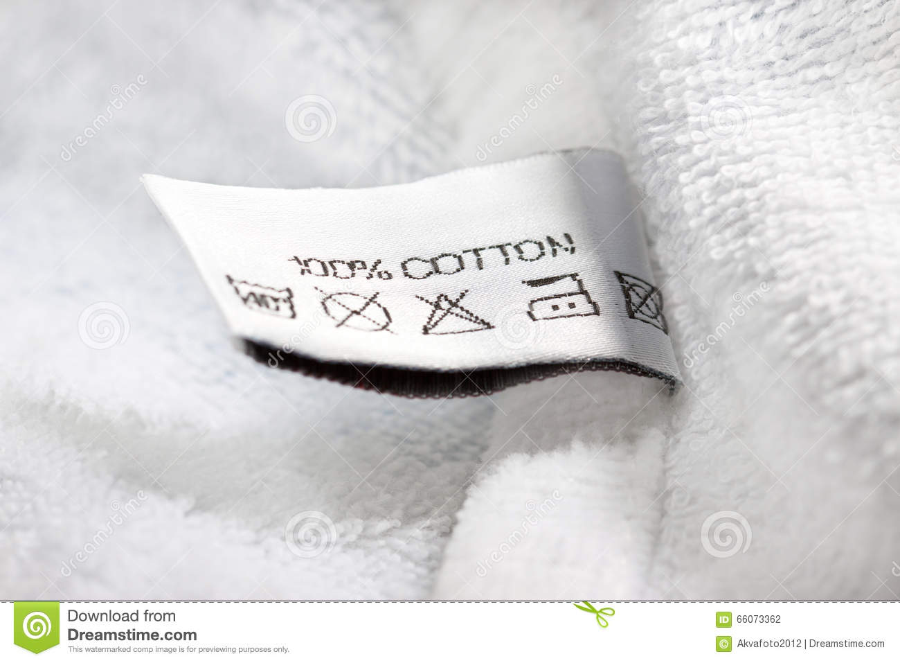 Clothing Label With Laundry Care Instructions Stock Photo Image Of