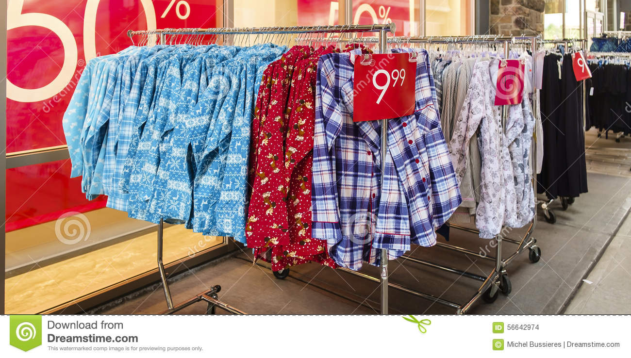 71a9a01ac3 Clothing on sale stock photo. Image of shirts