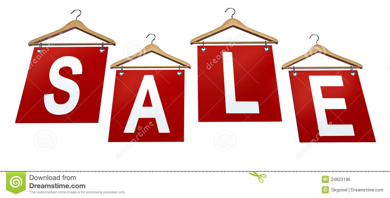clothing sale sign royalty free stock image image 24823196
