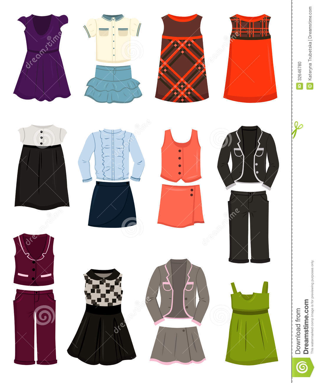 clothing for school for girls stock photo image 32646780