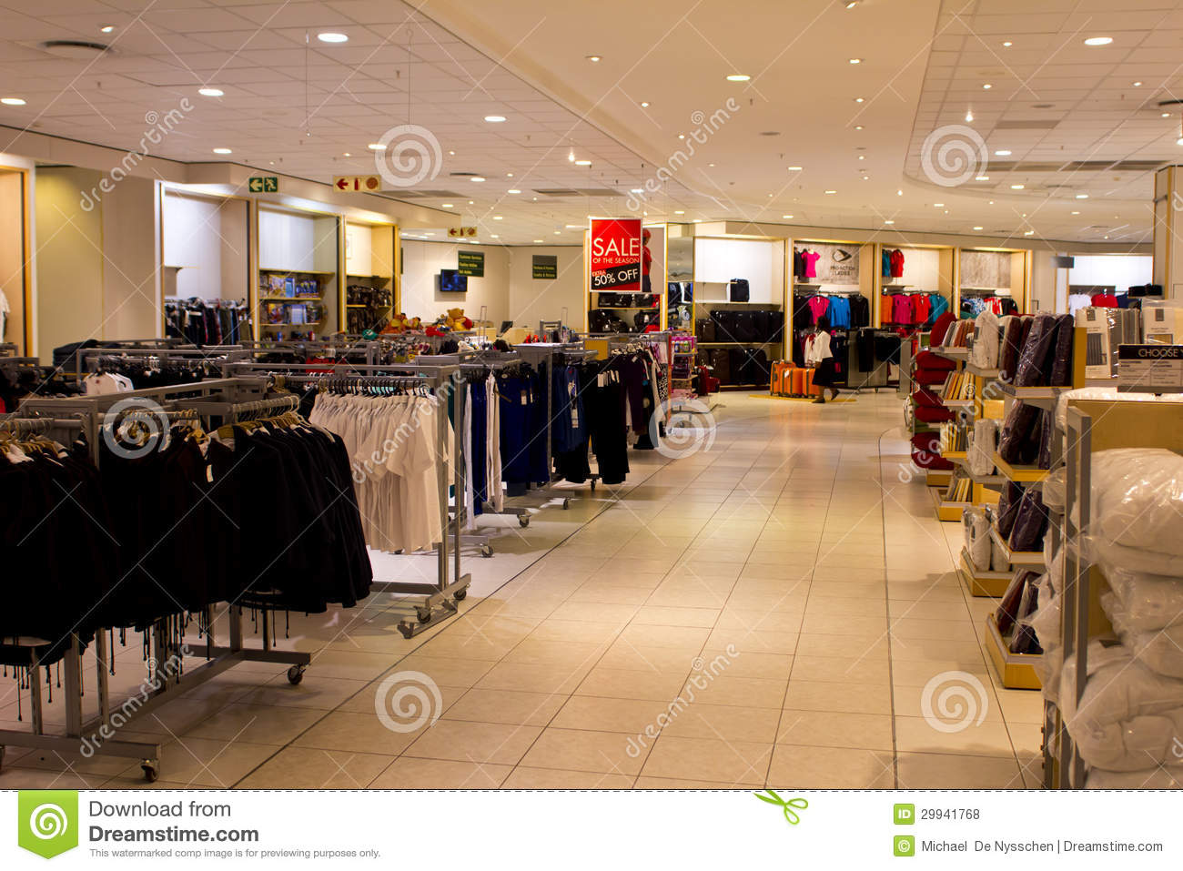 Clothes Store For Men Royalty Free Stock Photos Image