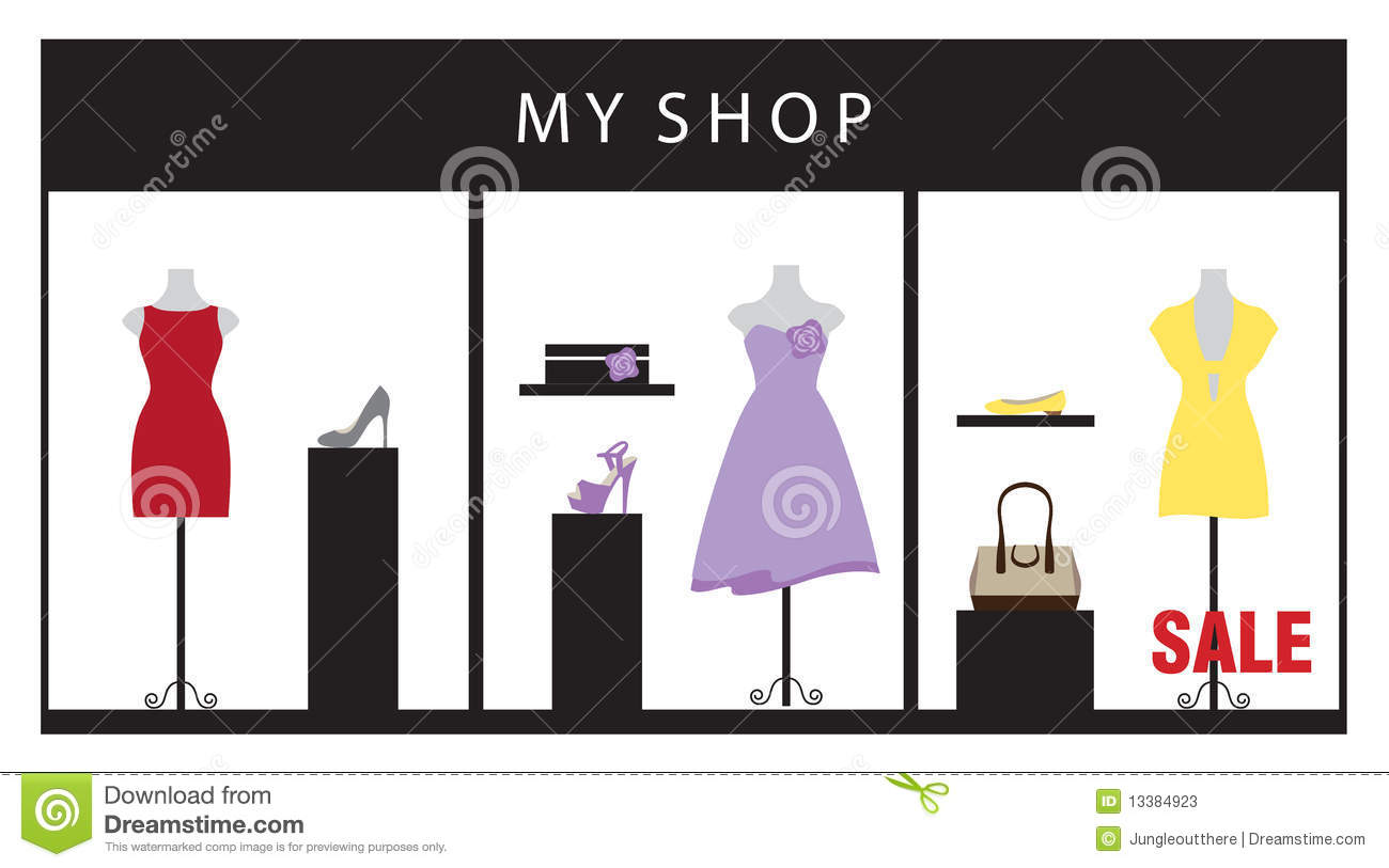 clothing store stock vector image of garment  boutique shoe print images clip art free shoe print clipart black and white