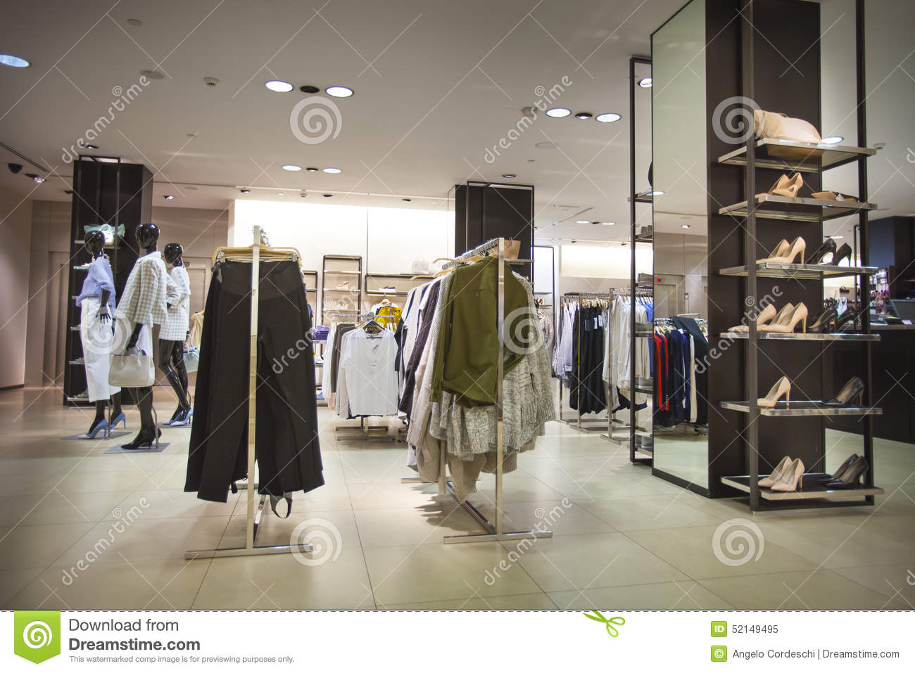 Portrait Of Female Cashier At Clothing Store Royalty Free Stock