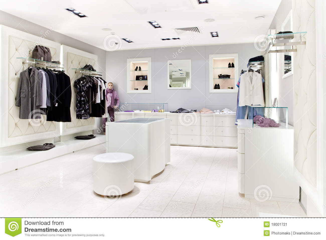 Clothing Store Interior Stock Image Image 18001721