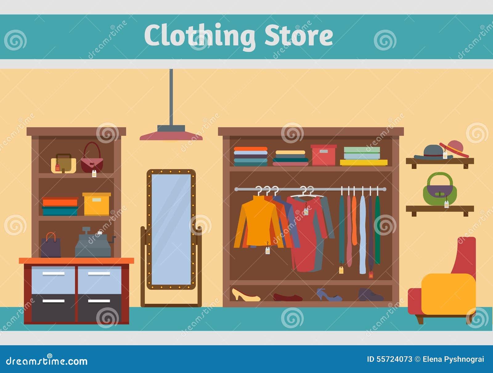 Inside Cartoon Clothes Store