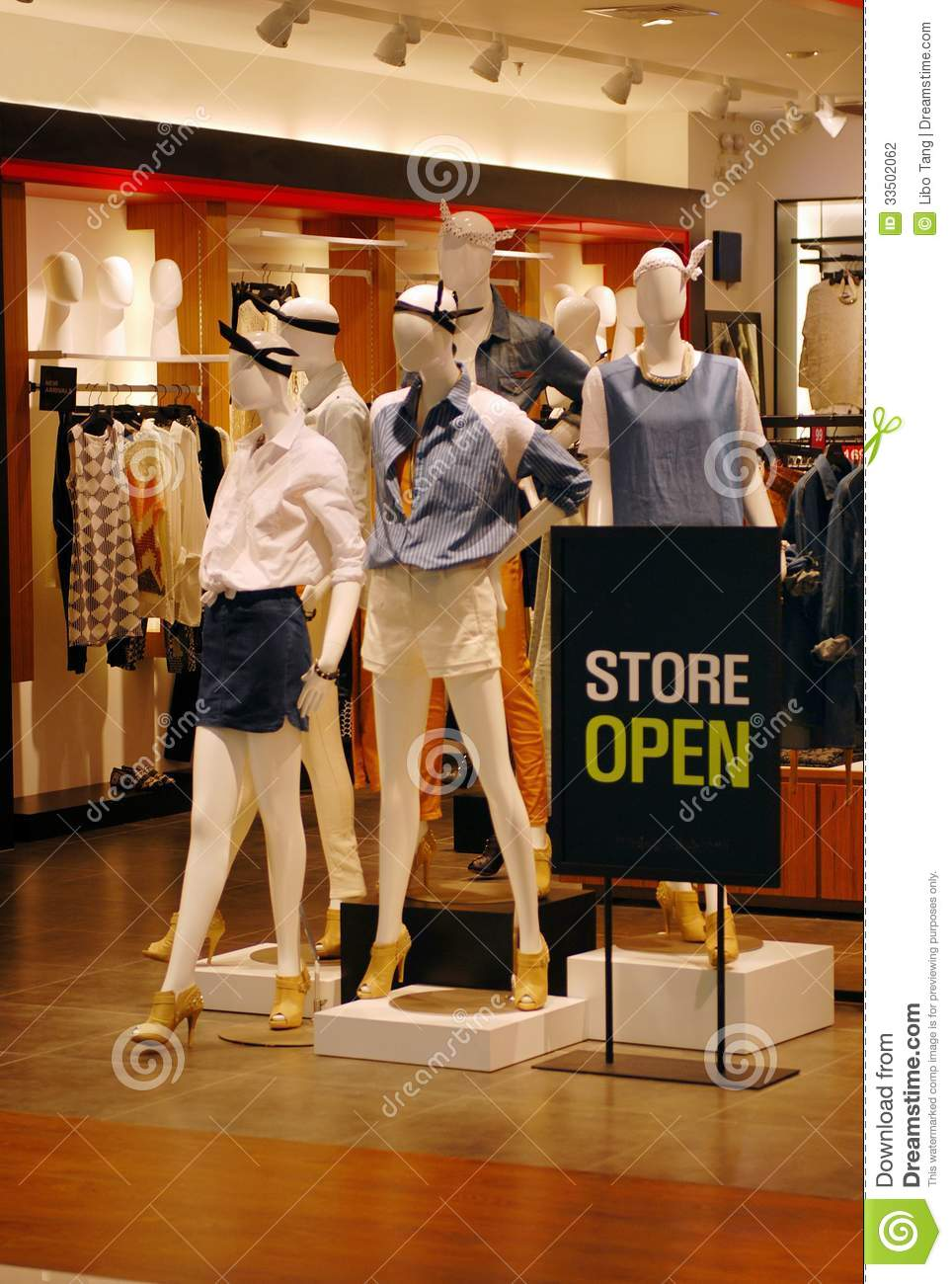 What clothing stores are open