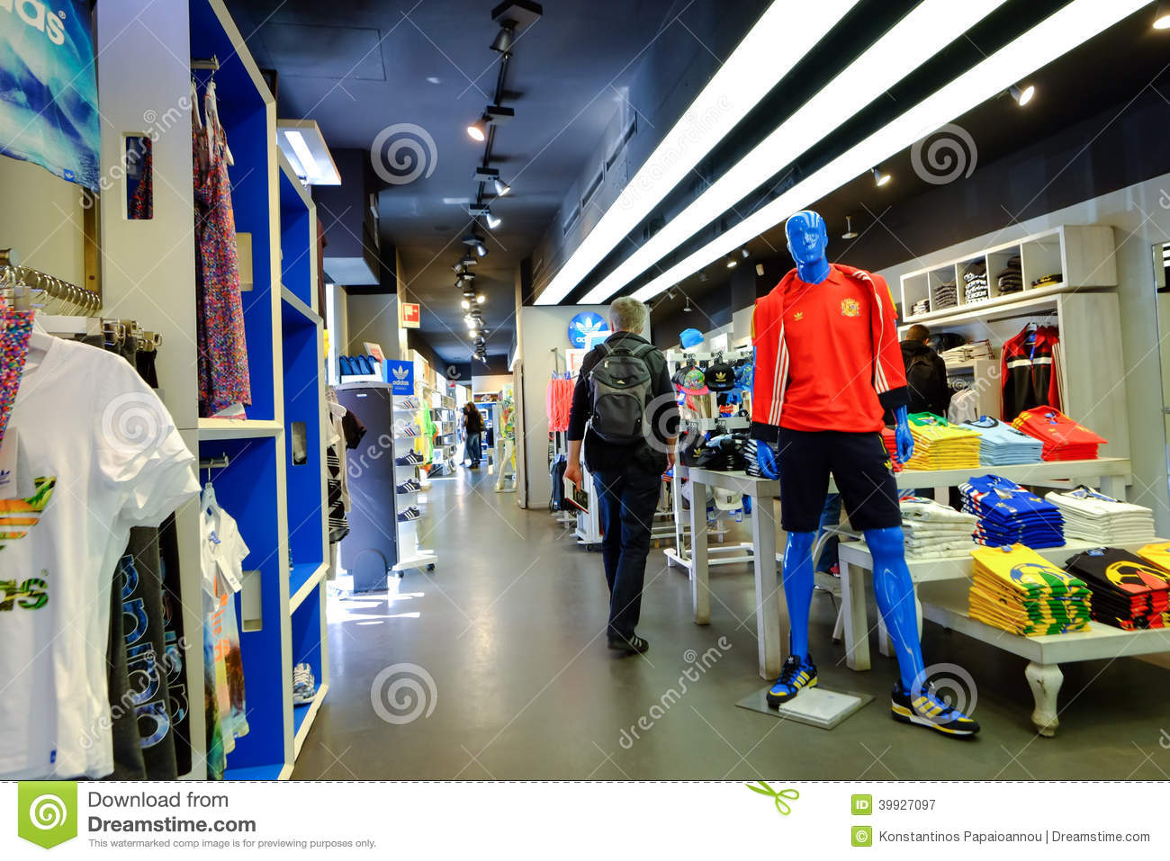Sport clothing store. Clothing stores