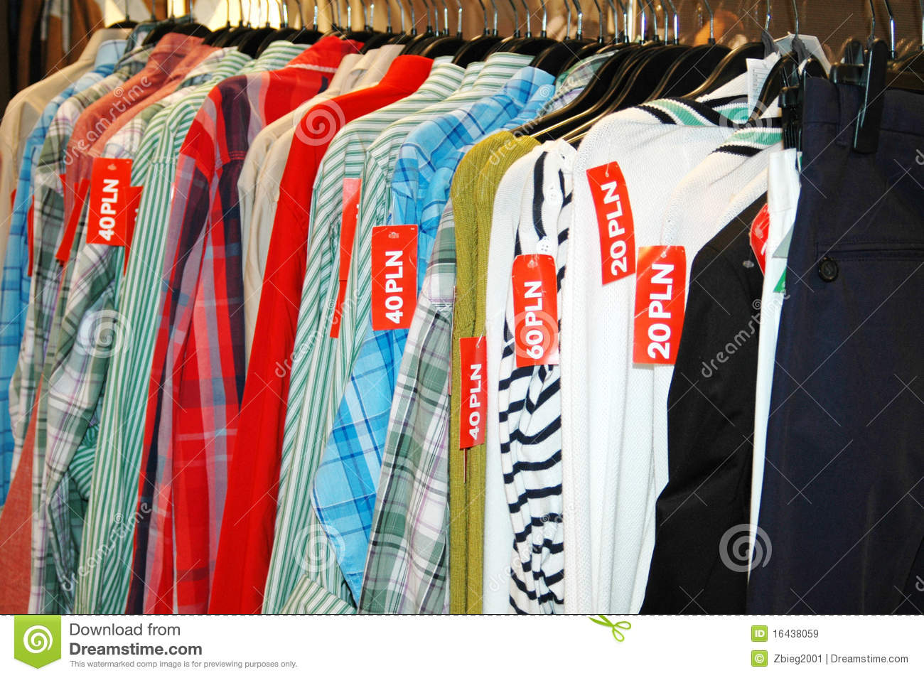 Royalty Free Stock Images: Clothing store sale