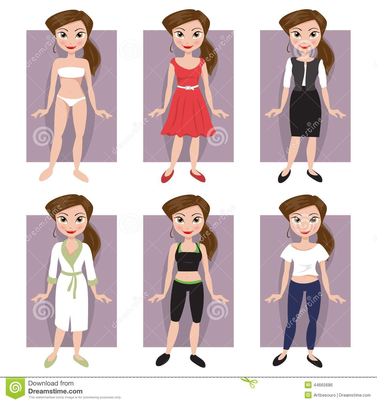 Clothing Styles Stock Vector Image 44665686