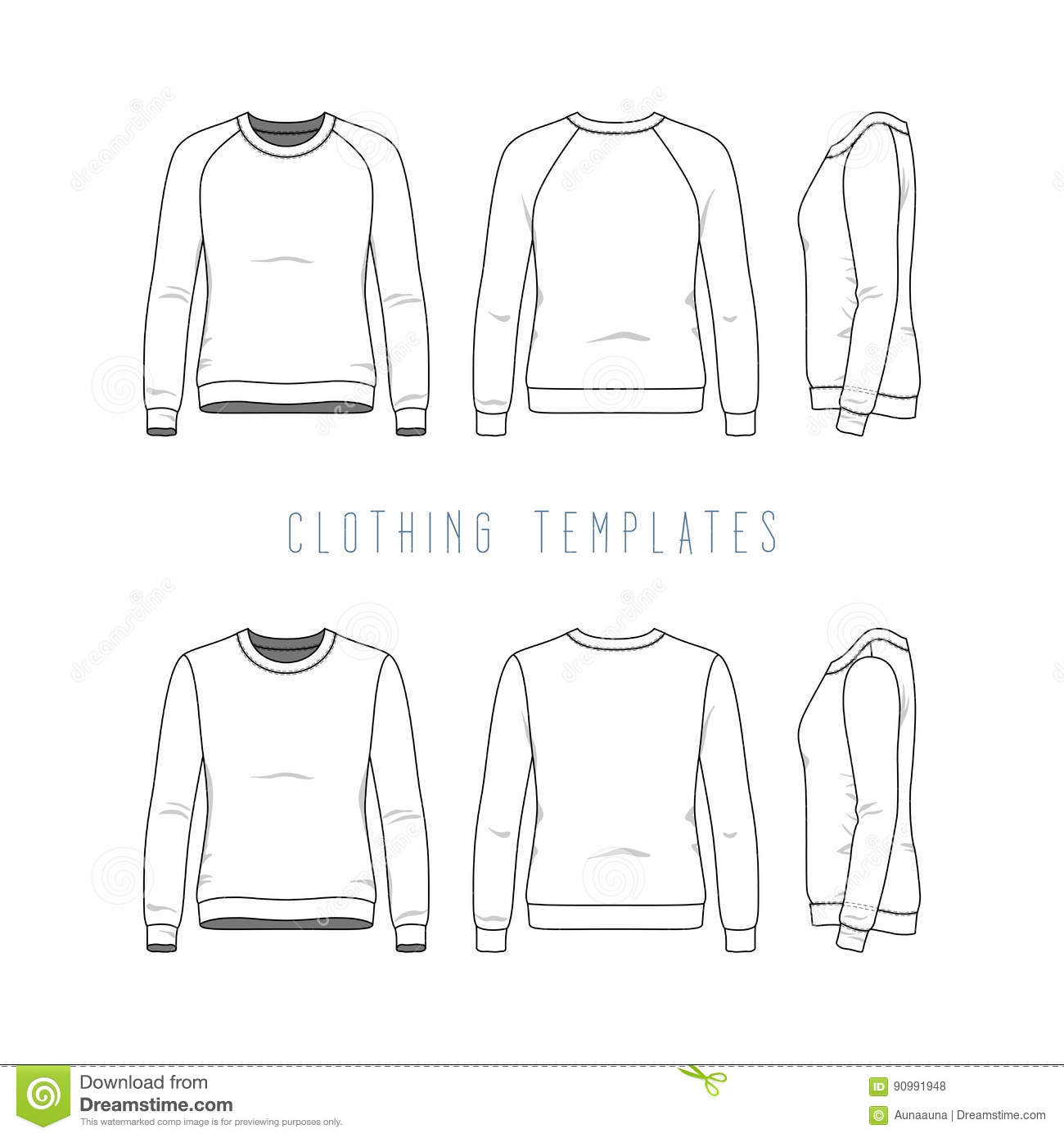 Clothing Templates Set Stock Vector Illustration Of Cotton