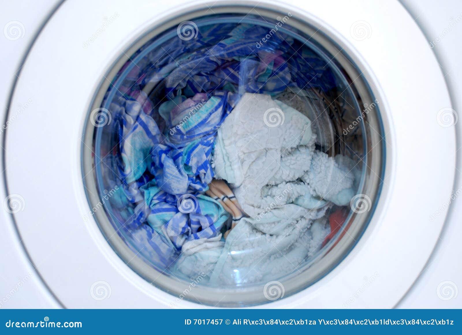 Clothing In Washing Machine Stock Image Image 7017457