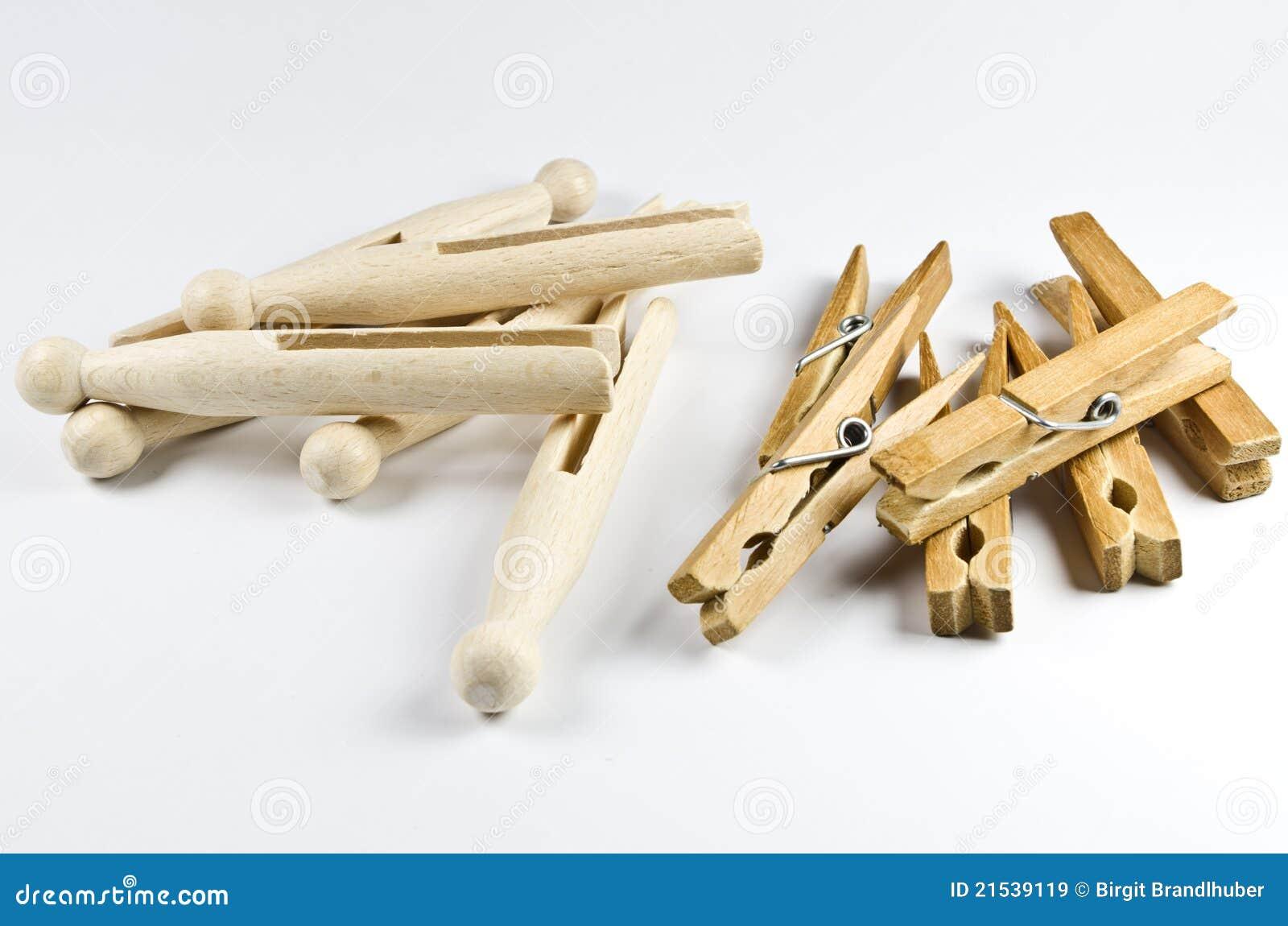 Clothspins de madeira