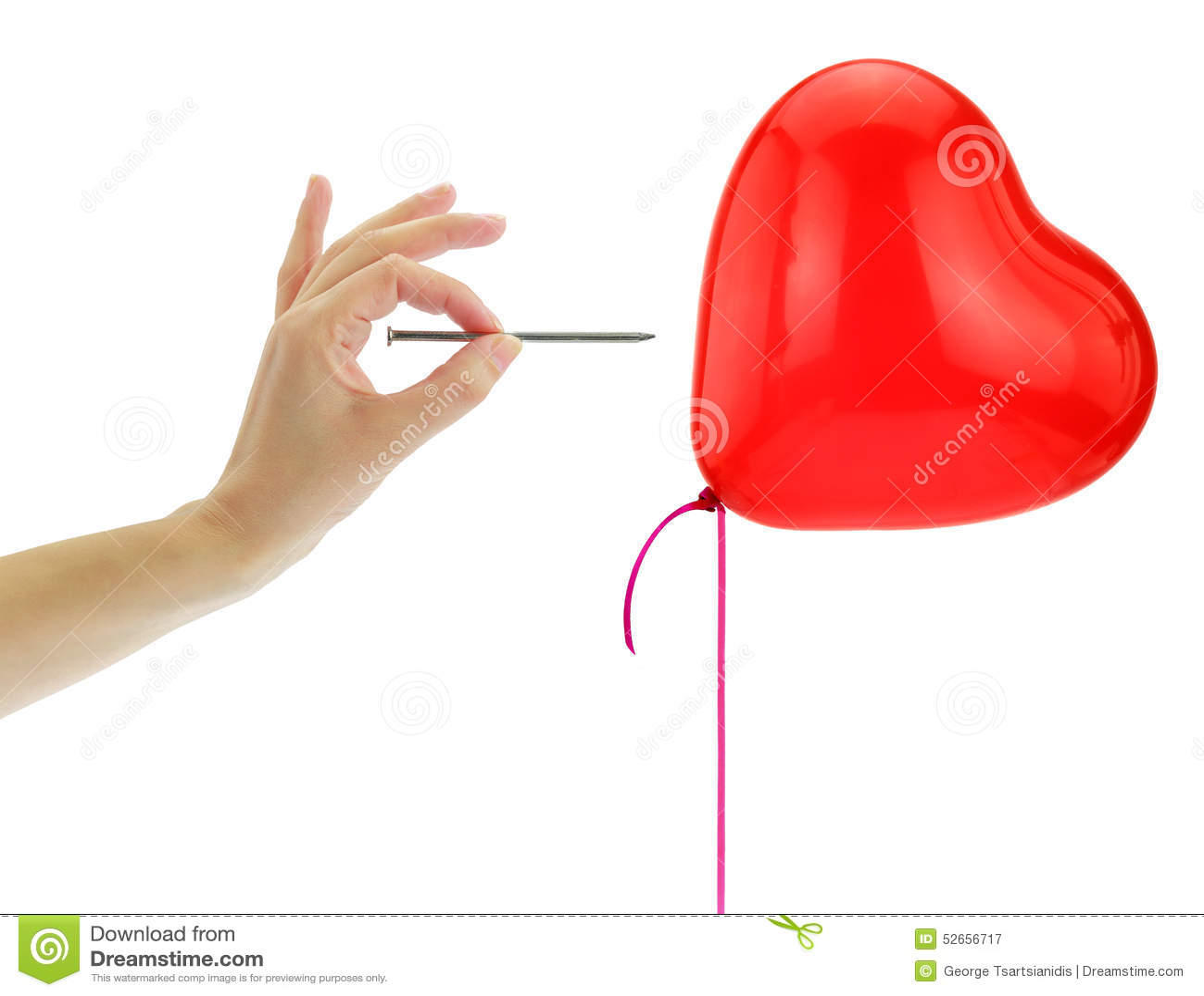 Clou environ pour sauter un ballon de coeur