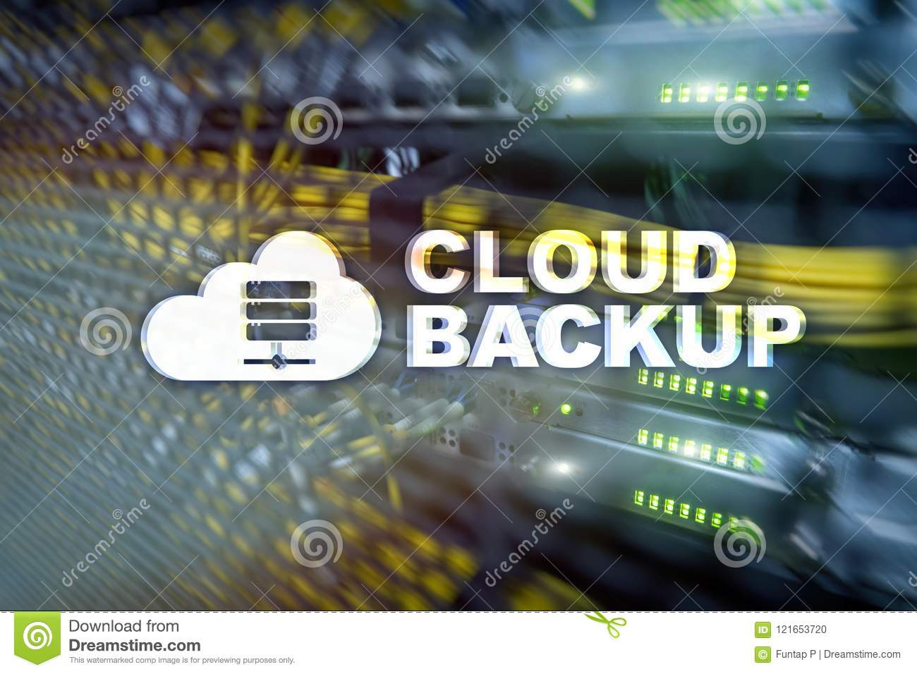 Cloud backup. Server data loss prevention. Cyber security