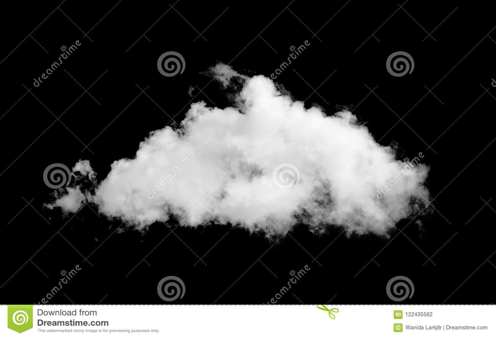 Cloud on black sky
