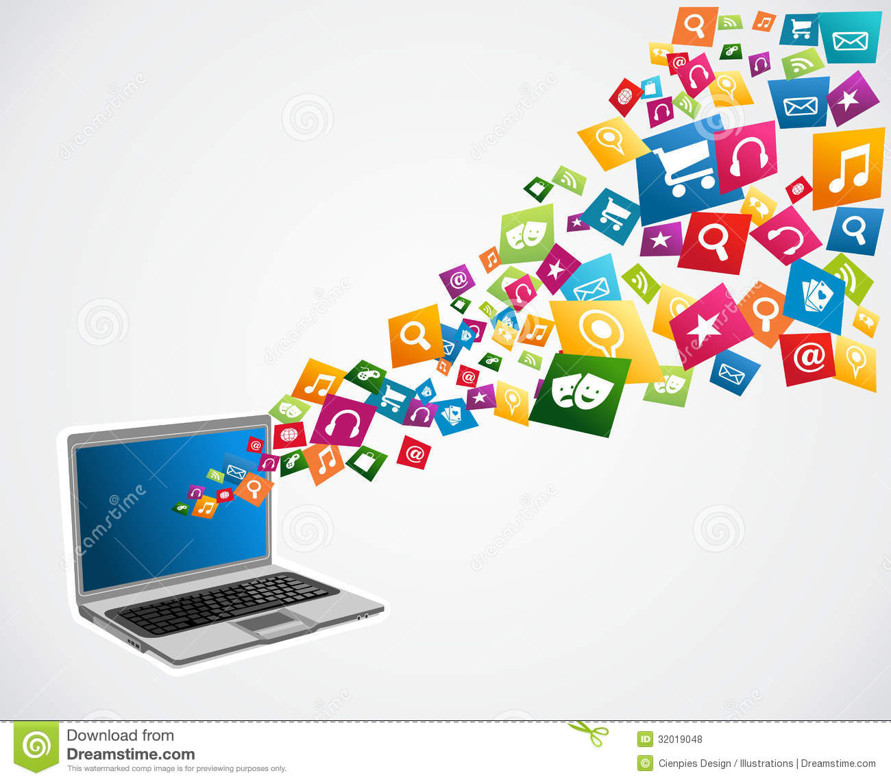 Cloud Computing Applications Royalty Free Stock Photos