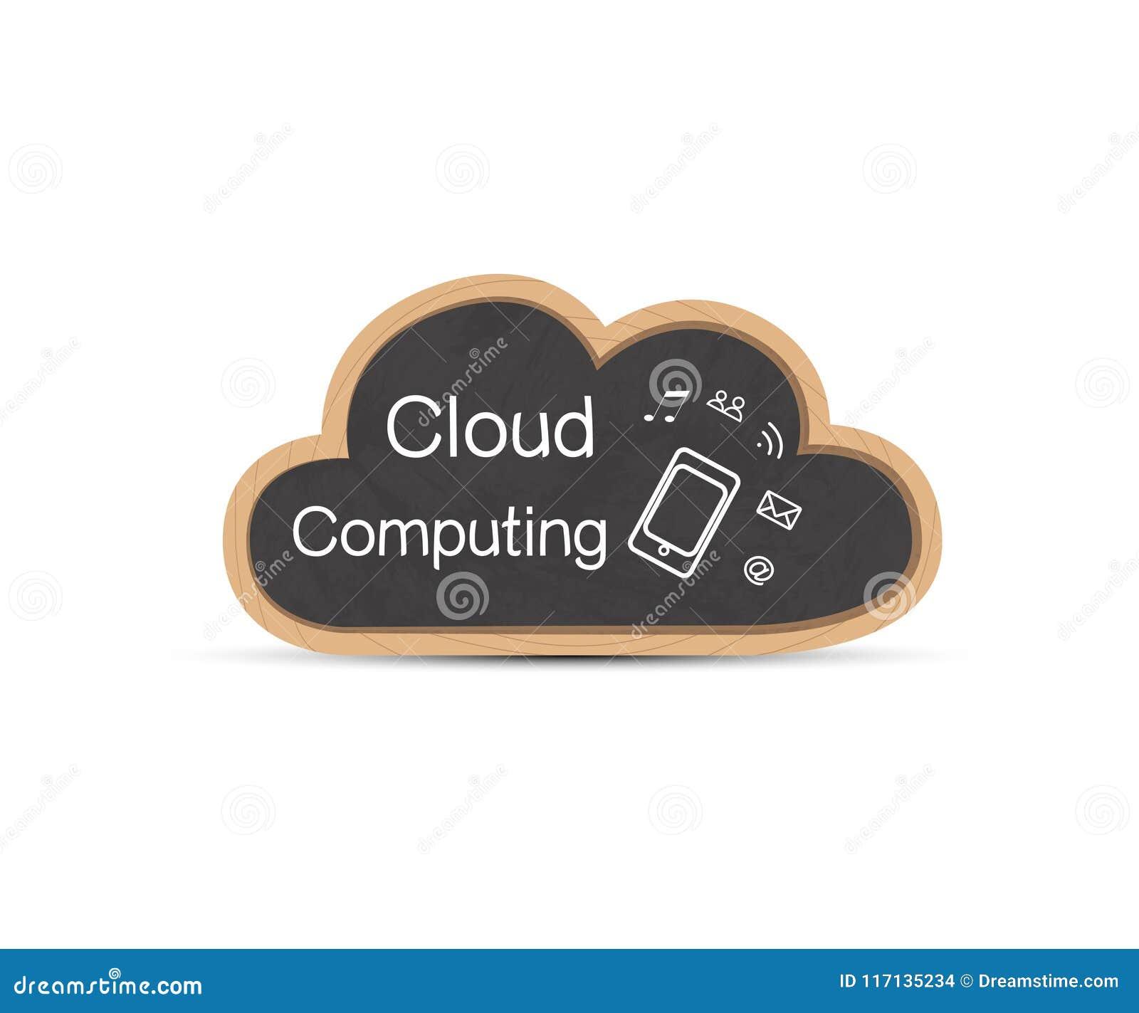 Cloud Computing. Chalkboard. Template. Vector illustration.