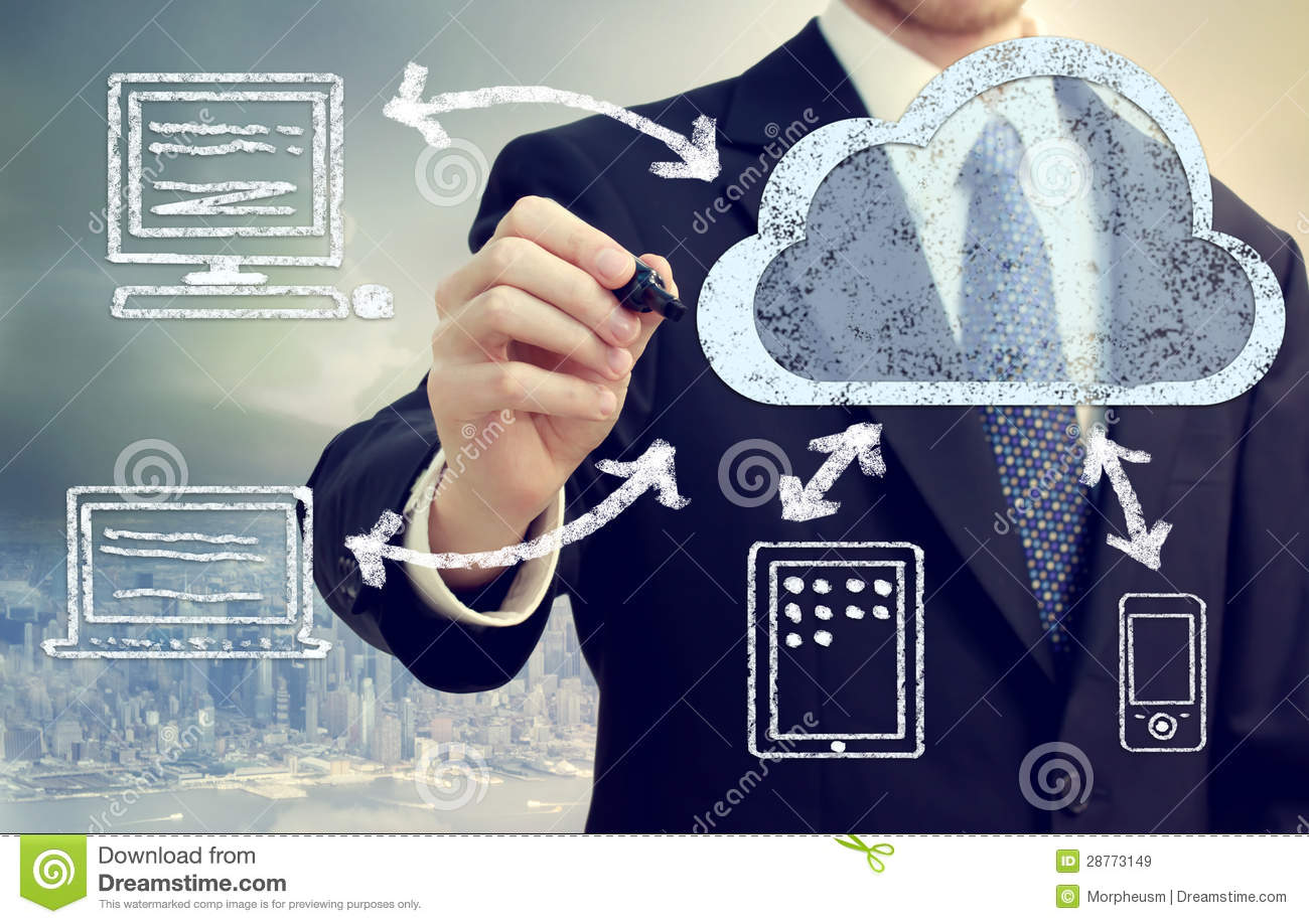 Download Cloud Computing Concept stock image. Image of chalk, cell - 28773149