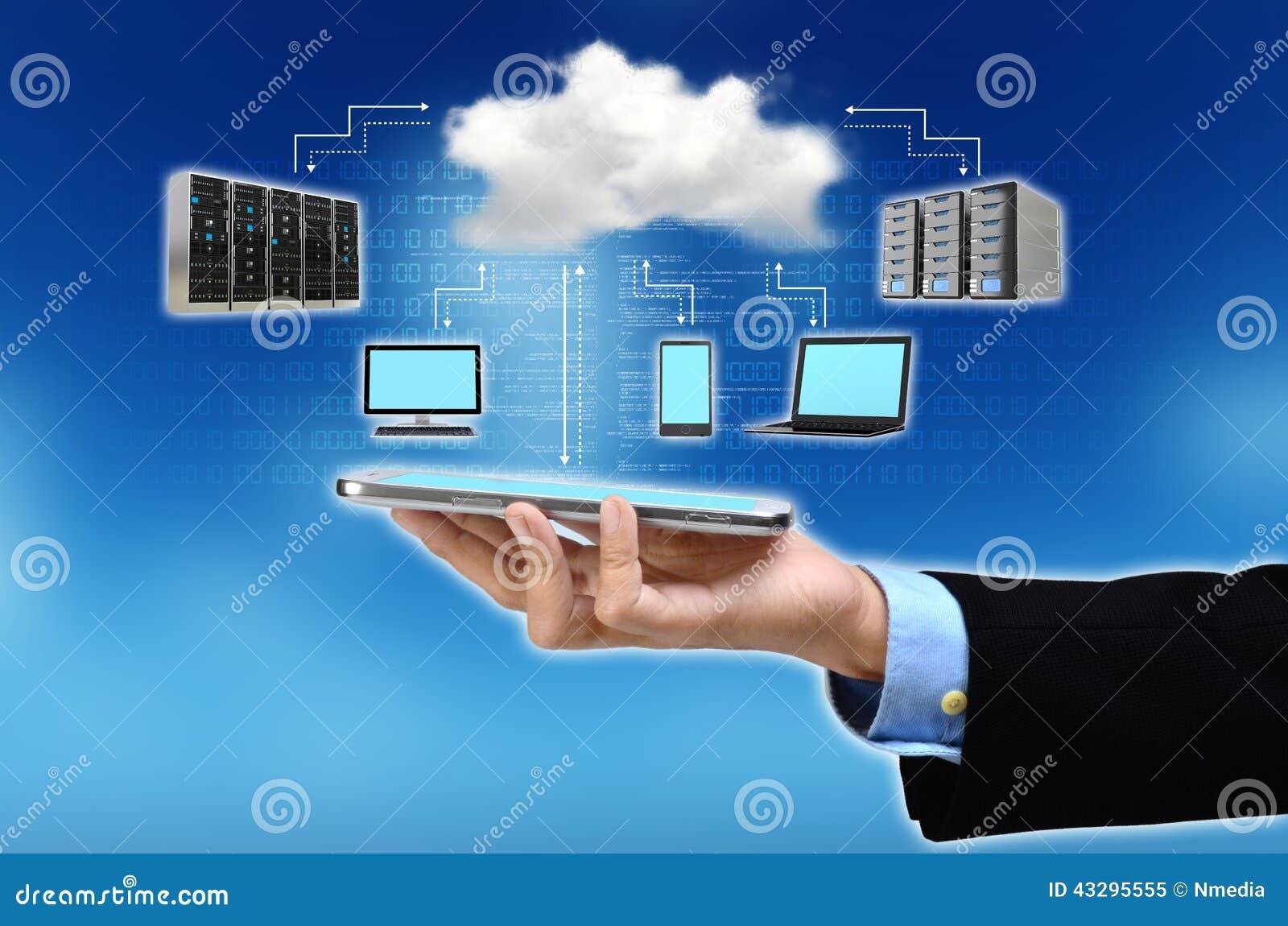 Technology Management Image: Cloud Computing Concept Stock Photo