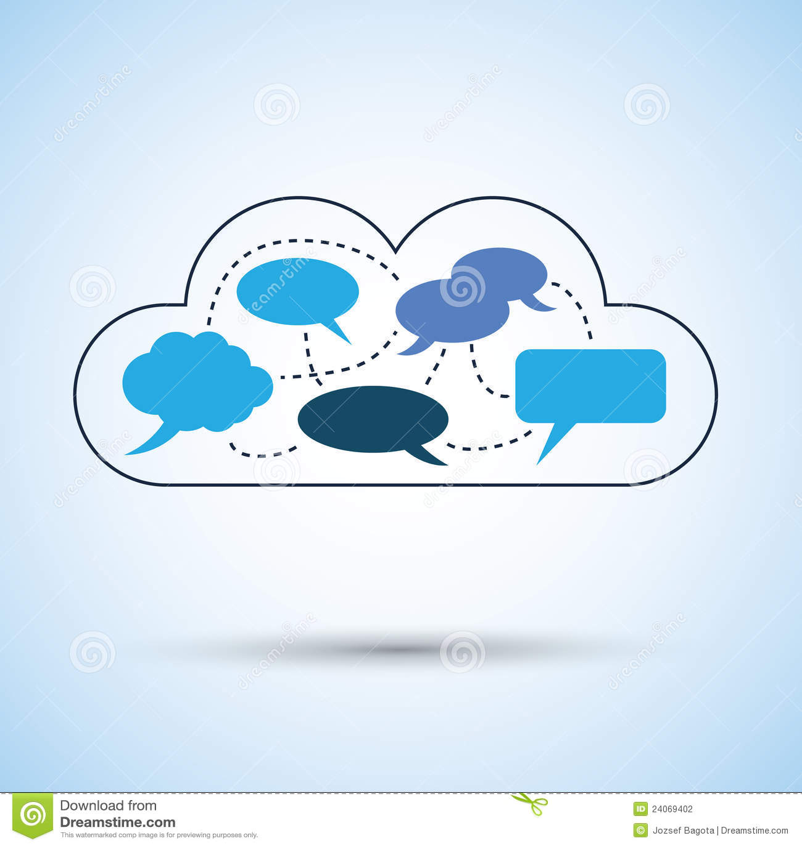 Cloud Computing Concept Design Stock Photography Image