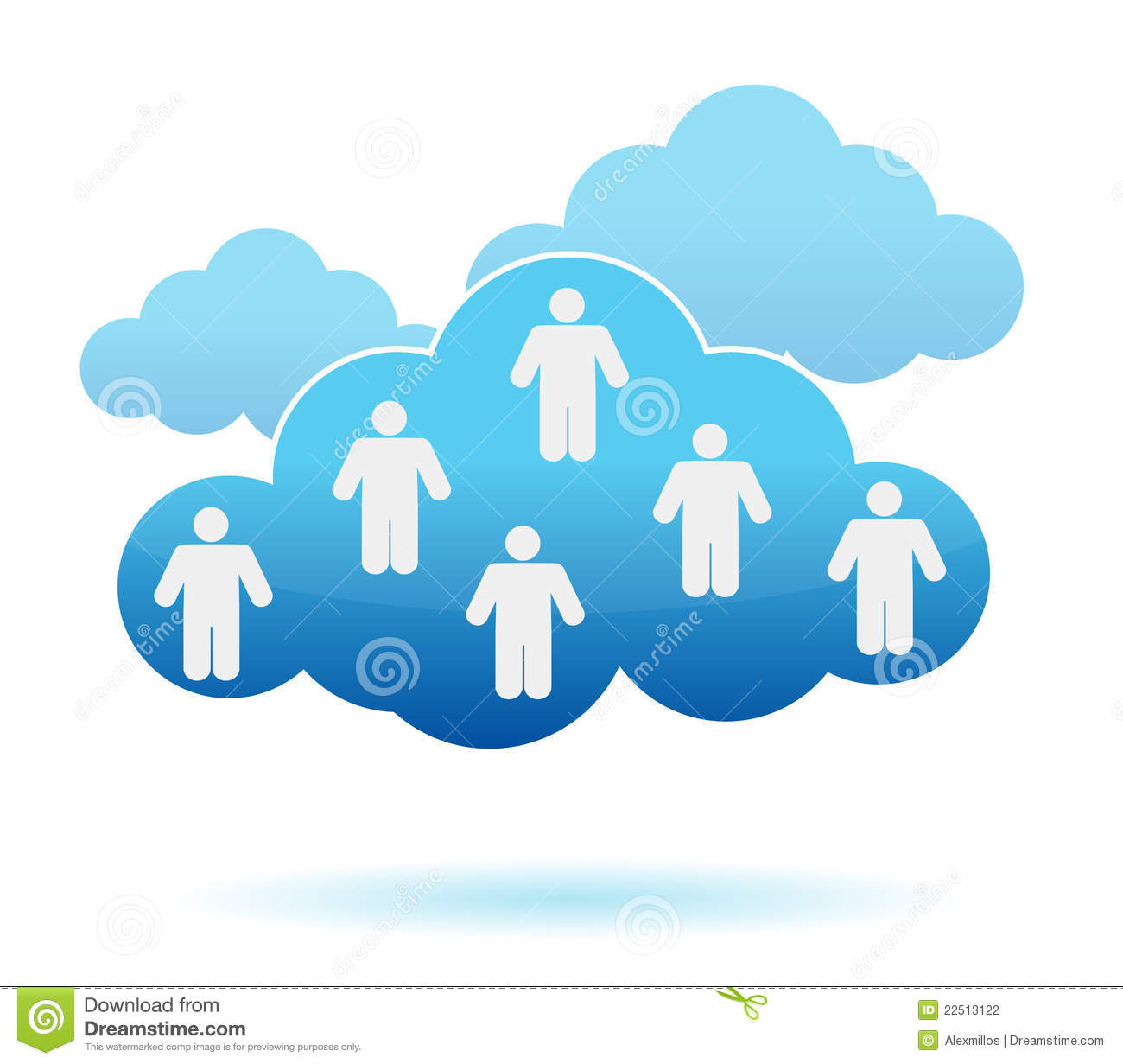 Networking Cloud Computing: Cloud Computing Concept. Social Networking Stock