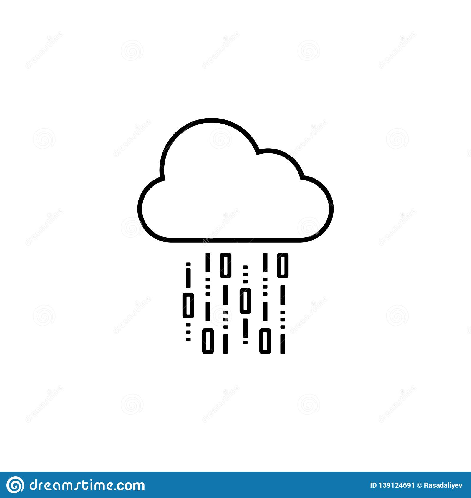 cloud, computing, data, network icon. Element of future pack for mobile concept and web apps icon. Thin line icon for website
